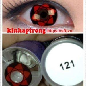 lens hoa trang mau do 121