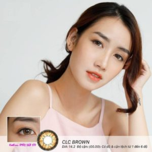 contact lens mau nau CLC Brown