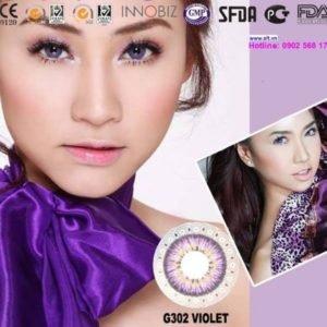 lens mat mau tim G302 Violet